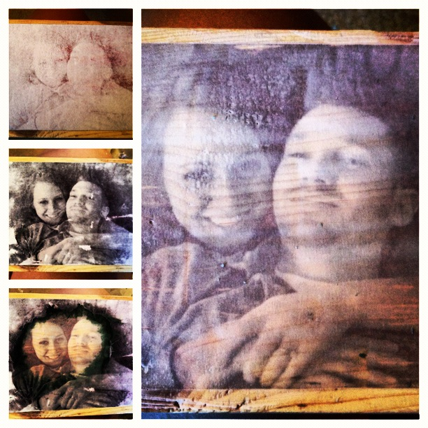 When The Wood Block/s Have Dried From The Damp Rag/paper Removal, Use The  Foam Brush To Coat The Entire Photo Side Of The Wood Block/s With Mod Podge.
